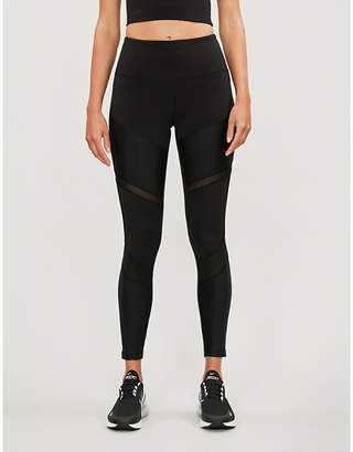 Lorna Jane Shine Ultimate high-rise mesh-panelled stretch-jersey leggings