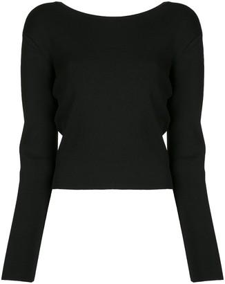Matteau Plunge-Back Sweater Top