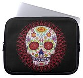 "Computer Case for Laptops 15"" Sugar Skull Day of the Dead Laptop Sleeve Ultraportable Neoprene Sleeve Pouch Protector"