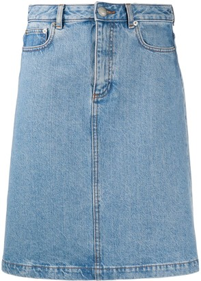 A.P.C. Denim Straight Fit Skirt