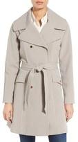 Eliza J Water Repellent Gabardine Trench Coat
