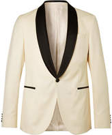 HUGO BOSS White Nemir Slim-Fit Wool And Silk-Blend Tuxedo Jacket