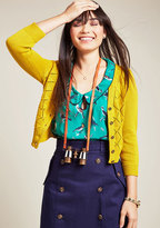 ModCloth Adored Addition Cardigan in Goldenrod in XXS