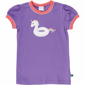 Fred's World by Green Cotton Girl's Hello Unicorn T T-Shirt