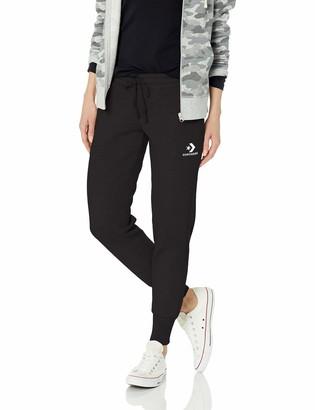 Converse Star Chevron EMB Pant Black Trousers Women