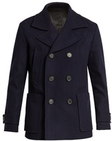 Ami Double-breasted Wool-blend Pea Coat