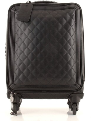 CHANEL Coco Case Rolling Trolley Quilted Caviar