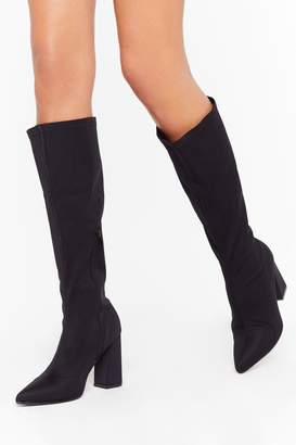 Nasty Gal Womens We've a Point to Prove Knee-High Boots - black - 8