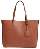 Louise et Cie Elay Leather Shoulder Tote - Brown
