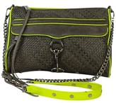 Rebecca Minkoff Grey & Neon Leather MAC Daddy Bag
