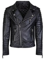 Leather outwear Men's Diamond Quilted Kay Biker 100% Real Lambskin Leather Jacket