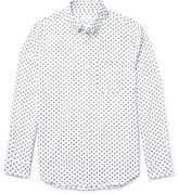 Club Monaco Slim-Fit Printed Cotton Shirt