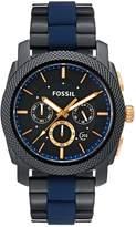Fossil Chronograph Watch Schwarz/blau