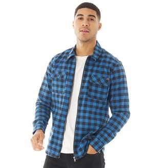 Blend Mens Long Sleeve Shirt Electric Blue