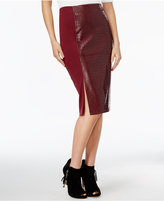 GUESS Candra Faux-Leather High-Waist Pencil Skirt