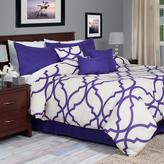 Trellis Purple 7-Piece King Comforter Set