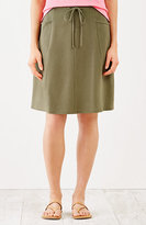 J. Jill Multiseam Knit Drawstring Skirt