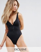 Free Society Sporty Zip Swimsuit