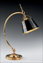 The Well Appointed House Antiqued Solid Brass Desk Lamp