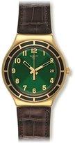 Swatch Unisex YGG406 Dollarone Analog Display Quartz Brown Watch