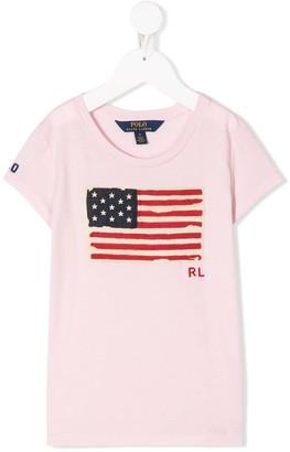 Ralph Lauren Kids flag-print T-shirt