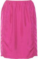 Lanvin Gathered washed-silk skirt
