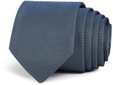 Theory Horizontal Textured Stripe Skinny Tie