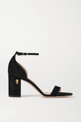 Jennifer Chamandi Massimo 85 Suede Sandals - Black