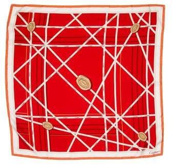 Cartier Silk Monogram Scarf