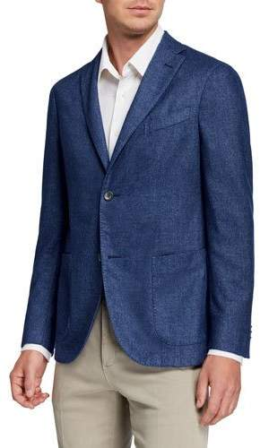 40a23122 Men's Solid Cashmere-Blend Sport Jacket