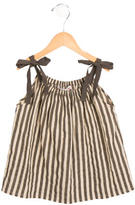 Bonpoint Girls' Striped Tie-Accented Dress