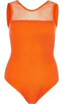 River Island Womens Orange mesh bodysuit