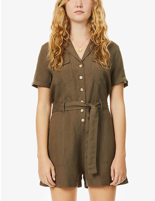 Rails Georgie short-sleeved woven playsuit