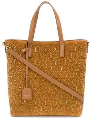 Saint Laurent Suede Tote Bag