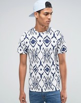 Celio Crew Neck T-shirt in All Over Print
