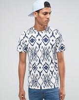 Celio Crew Neck T-shirt In All Over Print