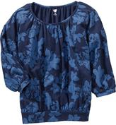 Old Navy Girls Floral-Print Tops