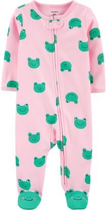 Carter's Baby Girl Frog 2-Way Zip Cotton Sleep & Play