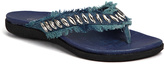 Lamo Blue Denim Fringe Nadine Sandal - Women