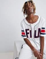 Fila Black Line Baseball Mesh T-Shirt In White