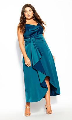 City Chic Simplicity Dress - viridian