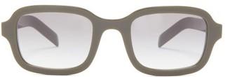 Prada Square Acetate Sunglasses - Green