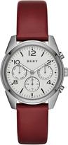 DKNY Crosby Burgundy Leather With Grey IP Watch