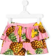 Dolce & Gabbana pineapple print rara shorts - kids - Cotton - 4 yrs