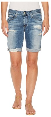 AG Adriano Goldschmied Nikki Shorts in 16 Years Indigo Deluge Destructed