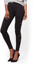 New York & Co. Soho Jeans - Side-Slit Legging - Black