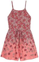 Yumi Floral Print Playsuit Pink