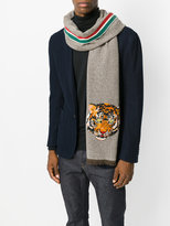 Gucci tiger embroidered scarf