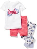Old Navy Printed 3-Piece Sleep Set for Toddler & Baby