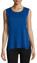 Misook Scoop-Neck Tank, Lyons Blue, Plus Size
